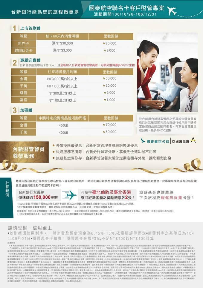Taishin Bank N Cathay new card