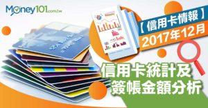 【信用卡情報】2017年信用卡統計資料,年度簽帳金額突破 2.6 兆元