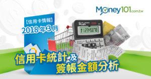 【信用卡情報】2018 年 3 月信用卡統計及簽帳金額分析